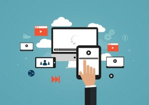 Several touch screen devices sitting in the cloud. Manage your time effectively.