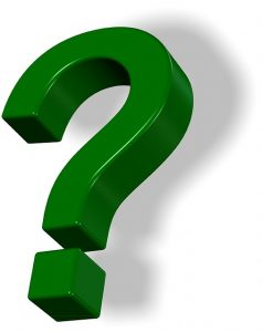 A green question mark - Coaching Questions for Managers