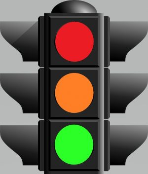 A picture of Traffic lights. Manage Emotions better by using the Traffic Lights Imagery