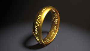 Ring with unreadable inscription. One ring to rule them all to represent one to-do list to rule them all.