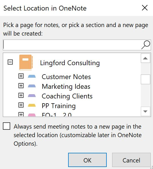 ms outlook and ms onenote