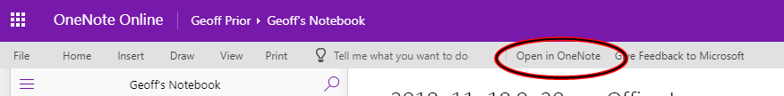 Share OneNote Screenshot