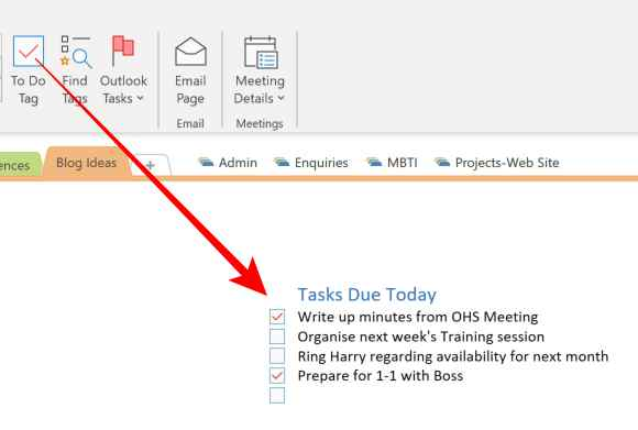 To Do Tag in Microsoft OneNote. Create an Outlook Task in Onenote